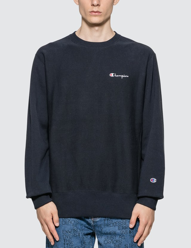 Champion Reverse Weave Small Script Crewneck Sweatshirt