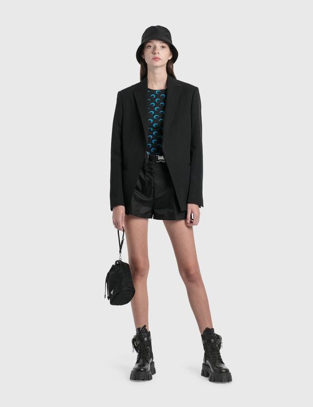 Prada Re-Nylon Gabardine Shorts Nero Women