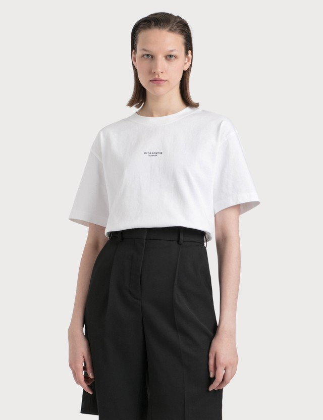 Acne Studios Edie Stamp T-shirt Optic White Women