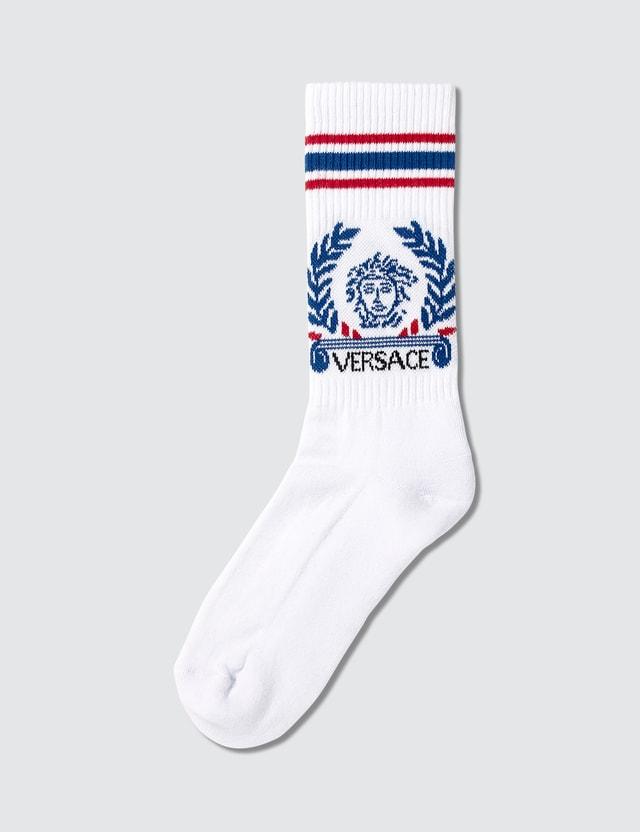 Versace Laurel Logo Sport Socks