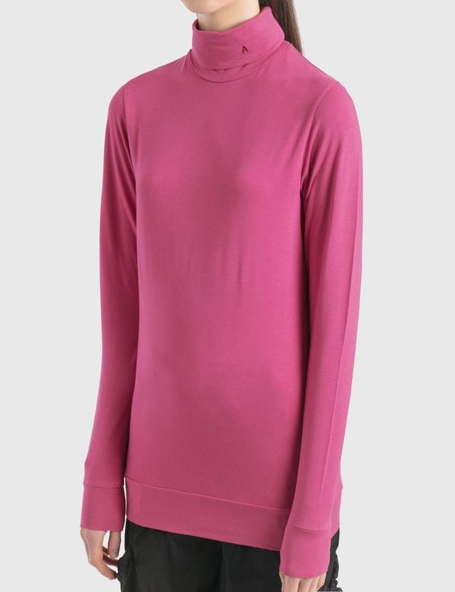 """Ambush """"A"""" 터틀넥 긴소매 티셔츠 Pink Women"""