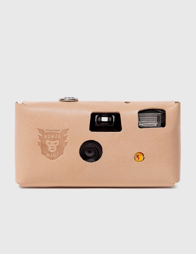 Human Made Leather Camera Case #K Beige Unisex