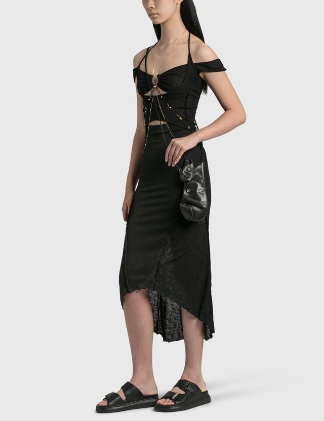 Hyein Seo Leather Pocket Bag Black Women