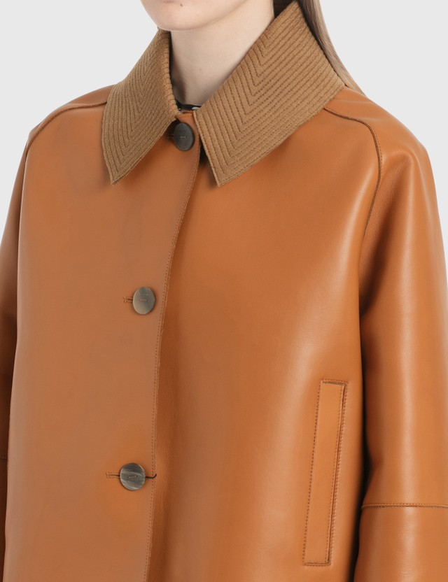 Loewe Bonded Cropped Jacket Tan Women