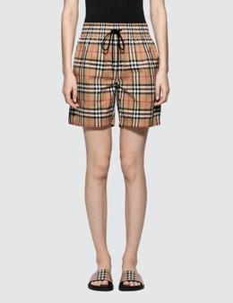 Burberry Check Dovemoore Shorts