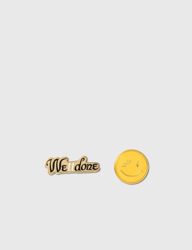 We11done We11done Smile Brooch Set Gold Men