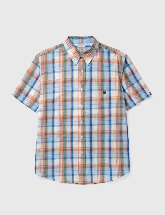 BAPE Bape Check Short Sleeves Shirt Orange Archives