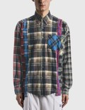 Needles 7 Cuts Wide Flannel Shirt Picutre