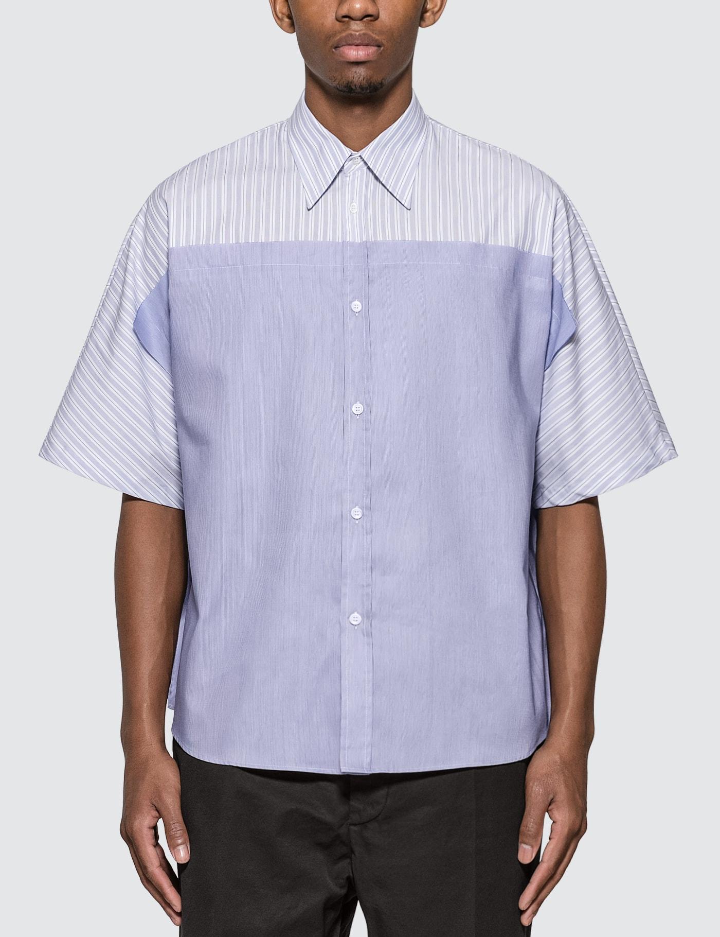 Spliced Pinstripe Shirt