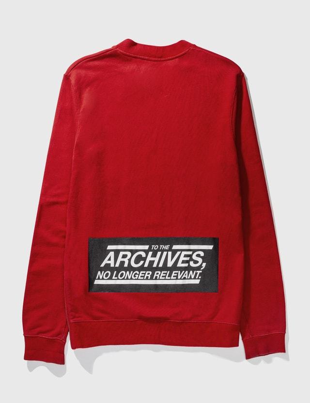 Raf Simons Raf Simons Long Sweatshirt Red Archives