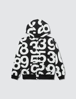 NUNUNU Numbered Zip Hoodie