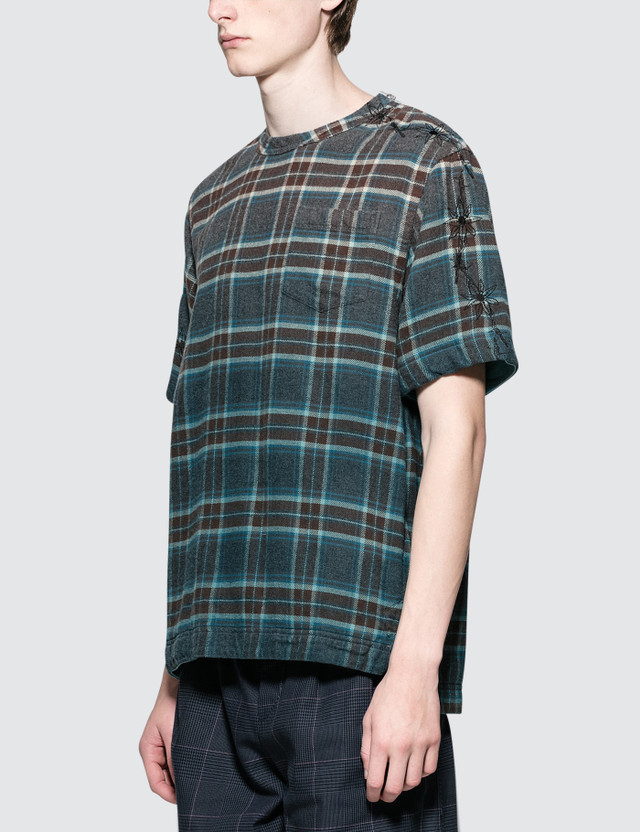Sacai Dr. Woo Flannel Check S/S T-Shirt