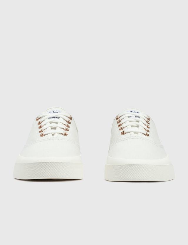 Maison Kitsune Canvas Laced Sneaker