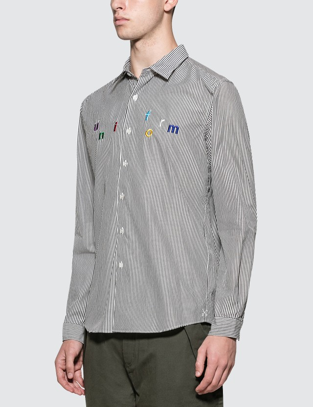 uniform experiment Color Embroidery Regular Collar Shirt
