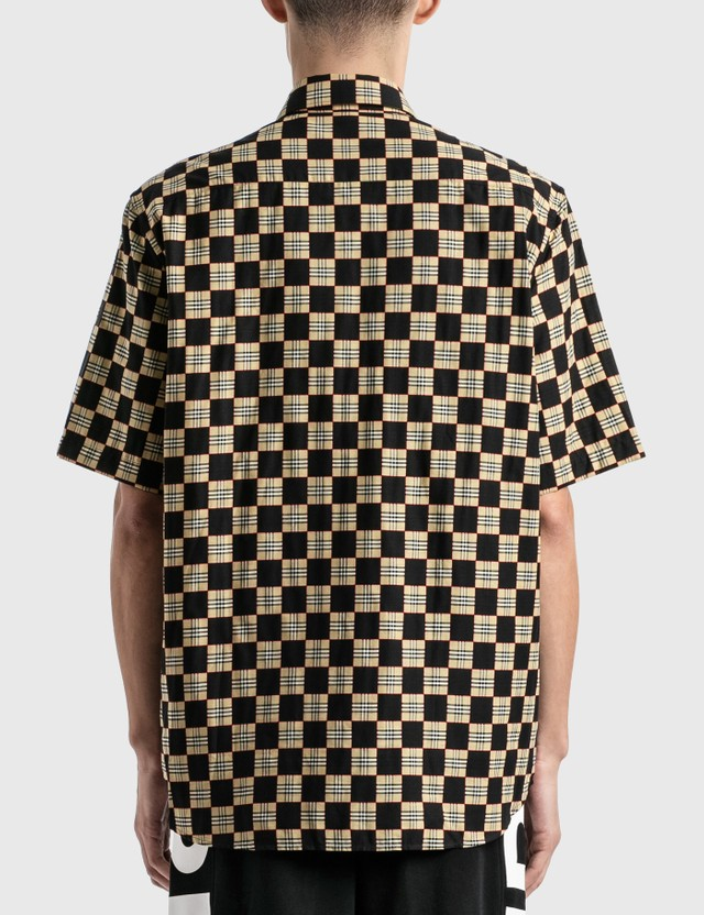 Burberry Chequer Print Cotton Shirt Archive Beige Ip Chk Men