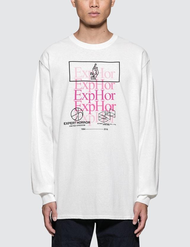 Expert Horror Fade Logo Overprint L/S T-Shirt