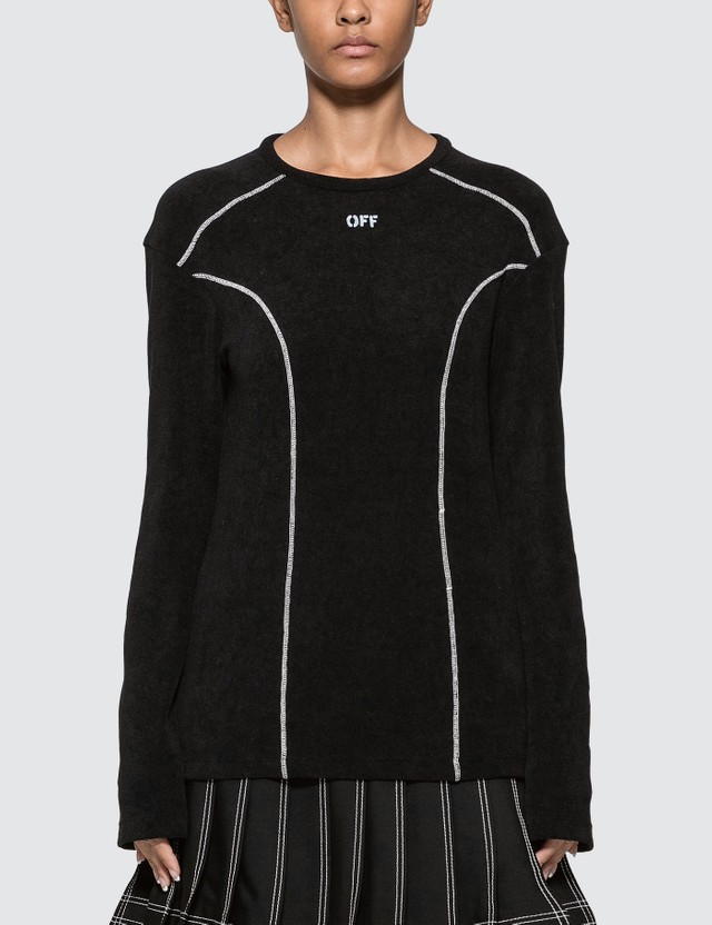 Off-White Stitched Detail Long Sleeve T-shirt