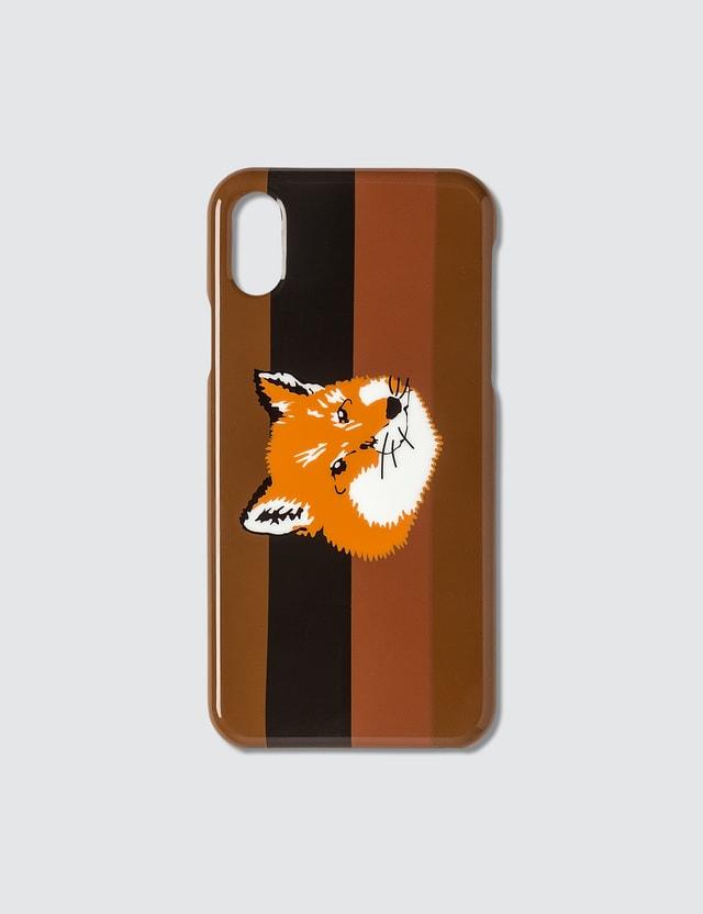 Maison Kitsune Stripes Fox Head iPhone Case