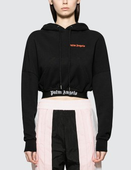 Palm Angels Cropped Over Logo Hoody