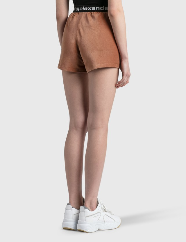 Alexander Wang.T Stretch Corduroy Shorts Pink Nude Women