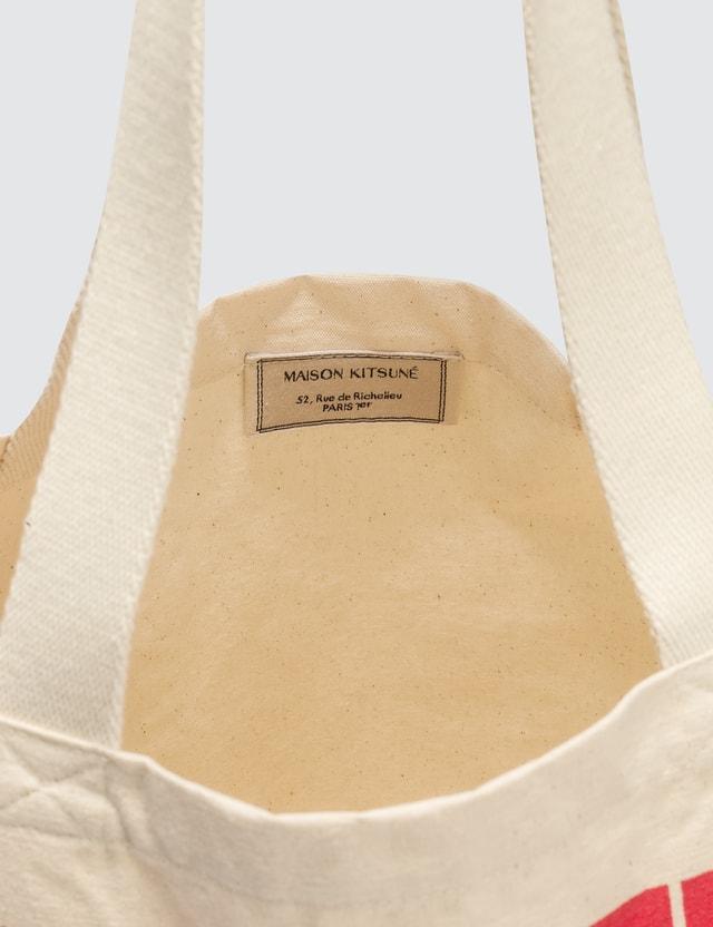 Maison Kitsune Wavy MK Tote Bag