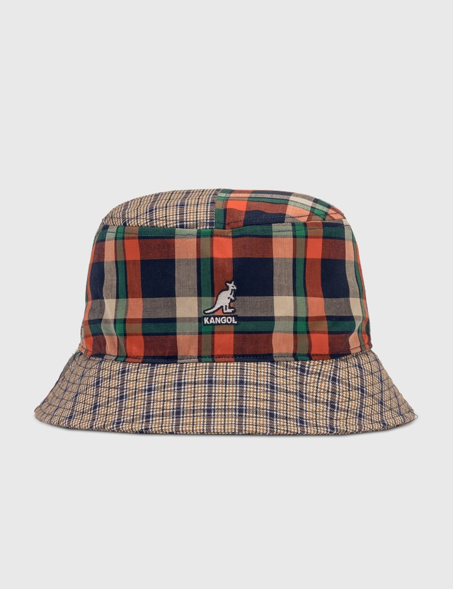 Kangol Plaid Mash-up Bucket Hat