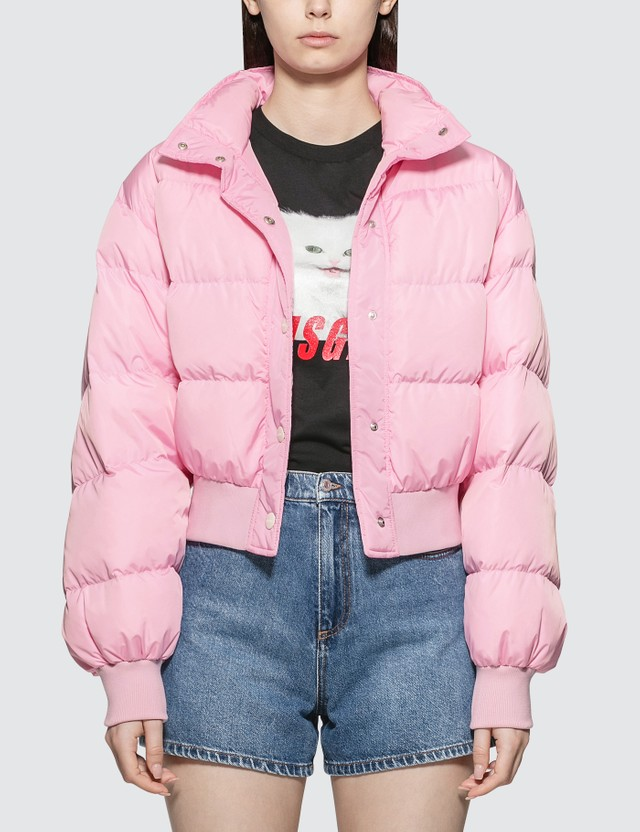 MSGM Basic Short Down Jacket Pink Women