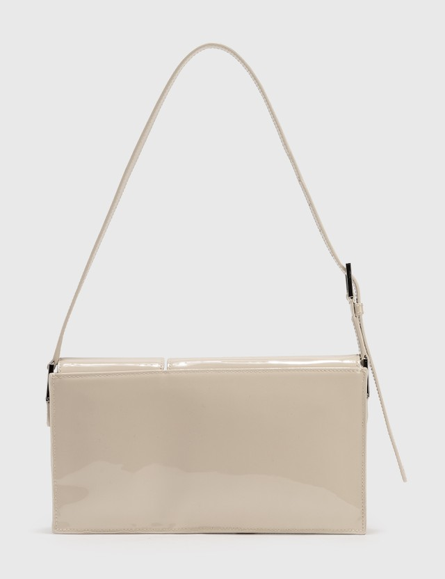 BY FAR Billy Cream Patent Leather Bag Beige Women