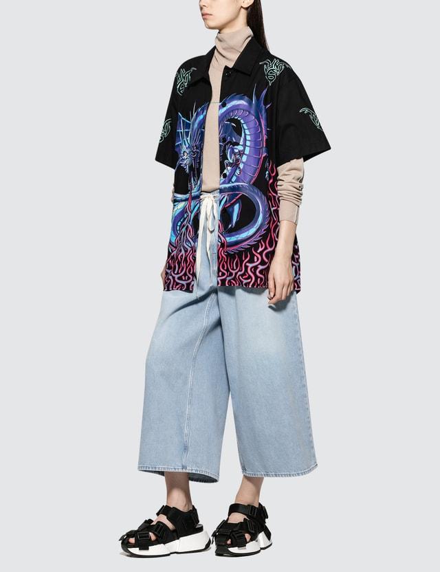 MM6 Maison Margiela Dragon Printed Short Sleeve Shirt