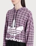 Adidas Originals Trefoil Allover Print Hoodie Magber/black Women