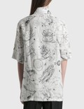 Acne Studios Saffi Printed Linen Shirt White Women