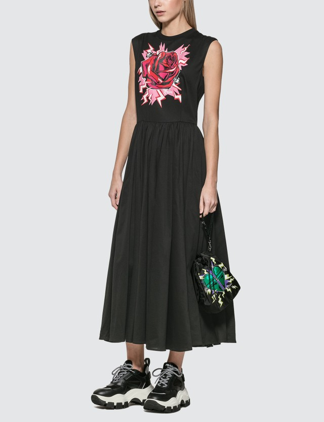 Prada JWP St. Rose Graphic Print Dress