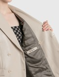 Misbhv Vegan Leather Double Breasted Blazer Stone Women