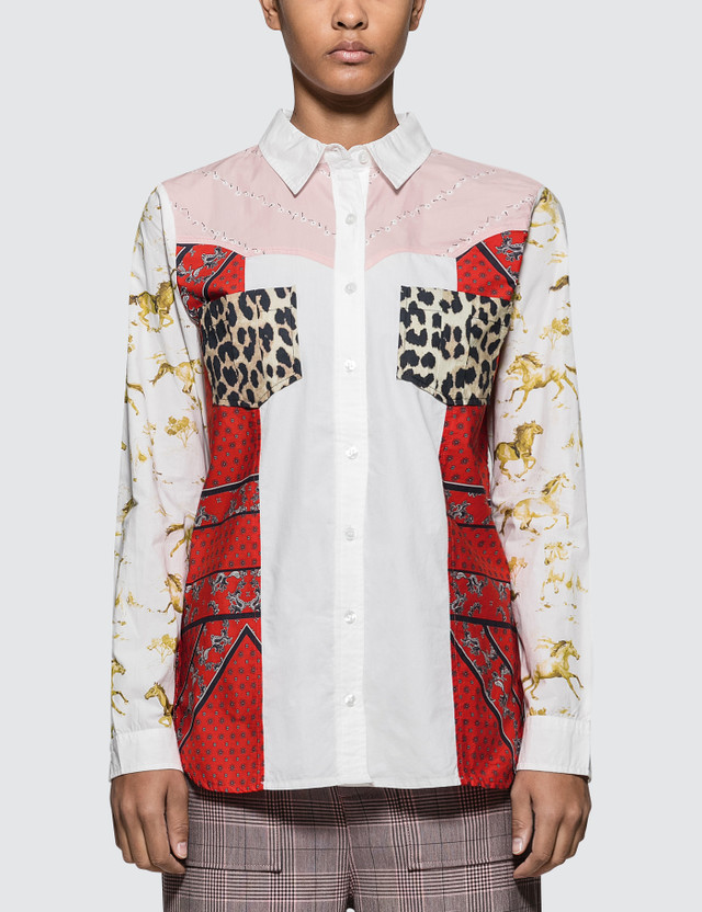 Ganni Sweeny Patchwork Shirt