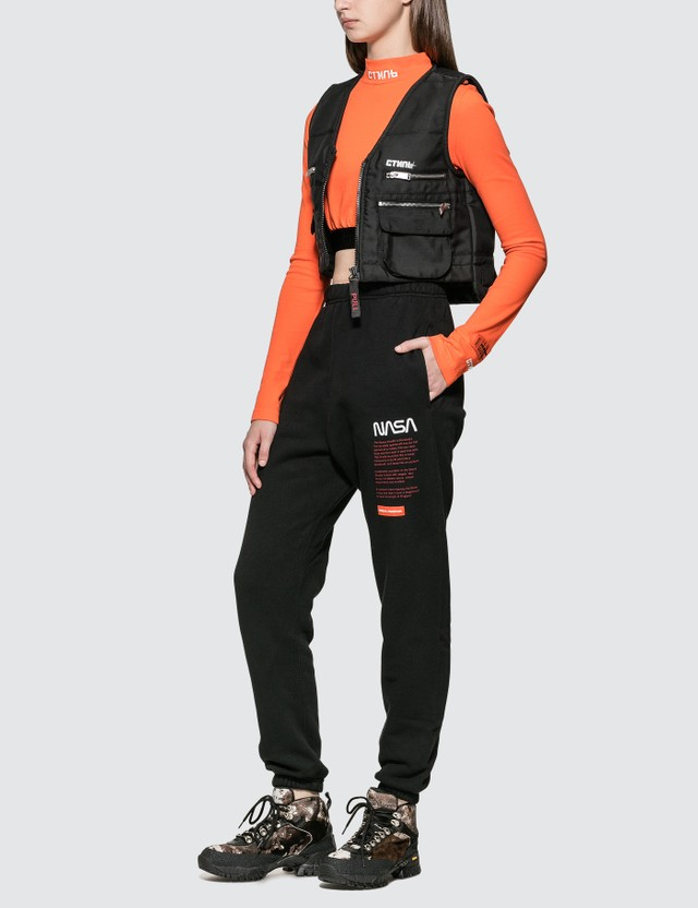 Heron Preston Fire Multi Pockets Vest Jacket