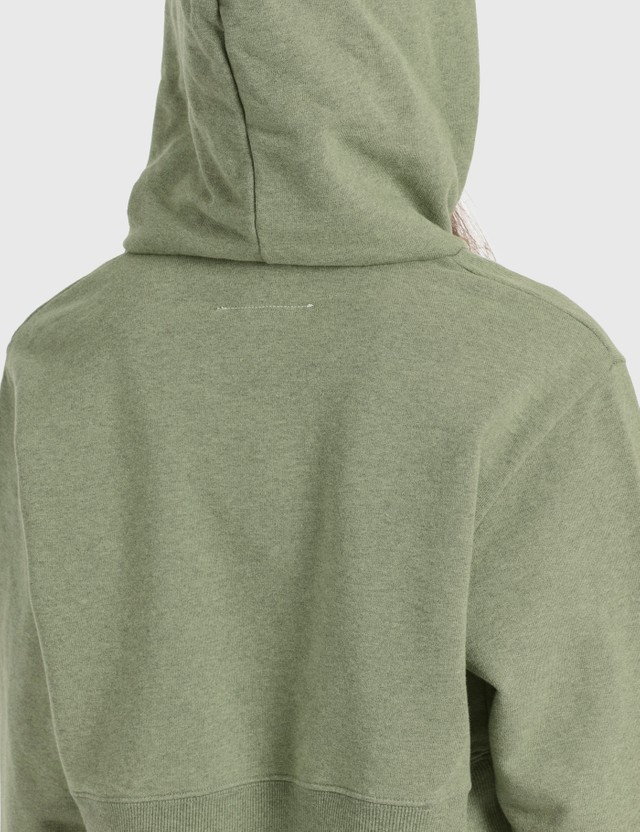 MM6 Maison Margiela Overdyed Cropped Hoodie Pistacchio Women
