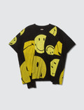 Kapital Kapital Black Smiley Face Patchwork Tee Picture