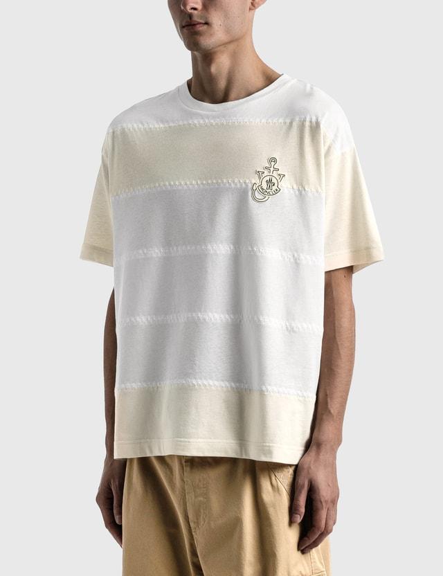 Moncler Genius 1 Moncler JW Anderson Stripe T-shirt White Men