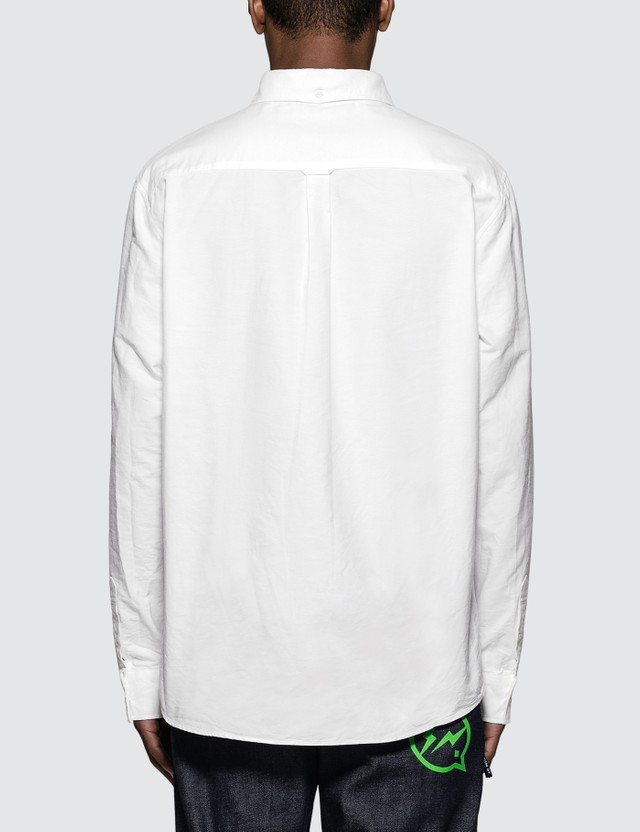 Denim By Vanquish & Fragment Icon Oxford L/S Shirt White Men