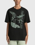 Private Policy Crane with Flag Graphic T-shirt Picture