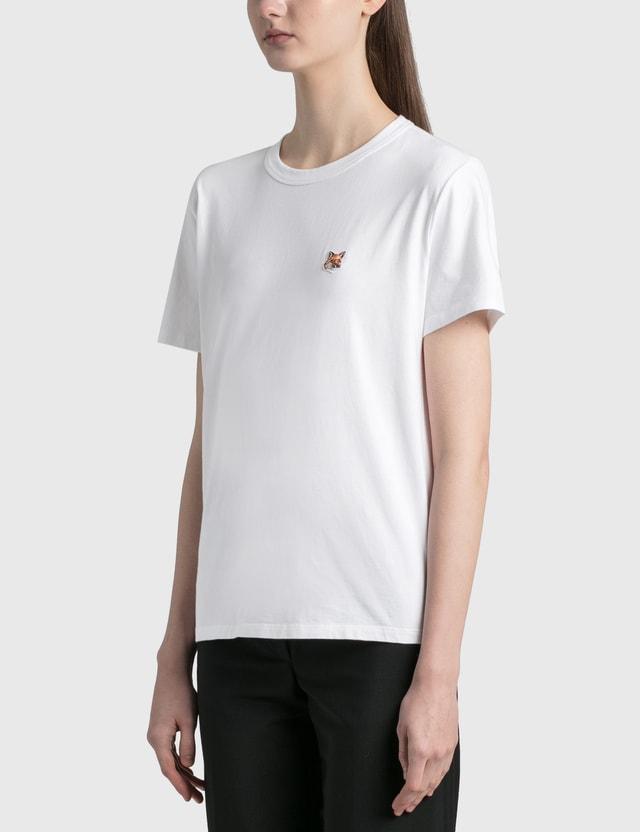 Maison Kitsune Fox Head Patch Classic T-shirt White Wh Women