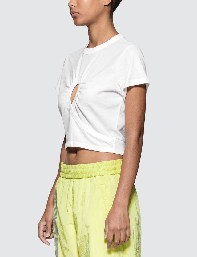Alexander Wang.T High Twist Jersey Croppedtee With Keyhole