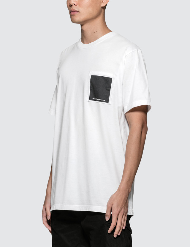 White Mountaineering Logo Printed Pocket T-Shirt