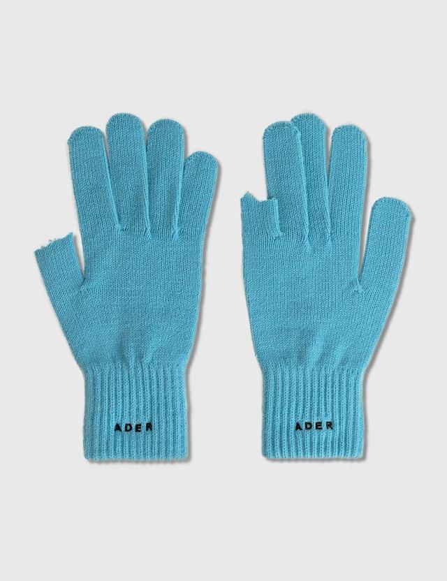 Ader Error Cinder Gloves Blue Men