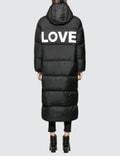 Katharine Hamnett Duvetica X Katharine Hamnett Full Length Oversised Puffa Coat With Love Slogan Picture