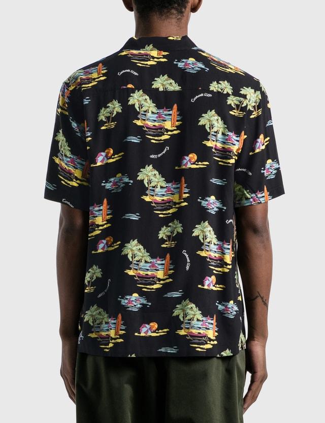Carhartt Work In Progress Beach Shirt Beach Print, Black Men