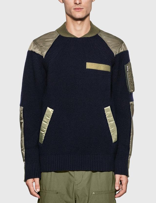 Sacai MA-1 Insert Pullover
