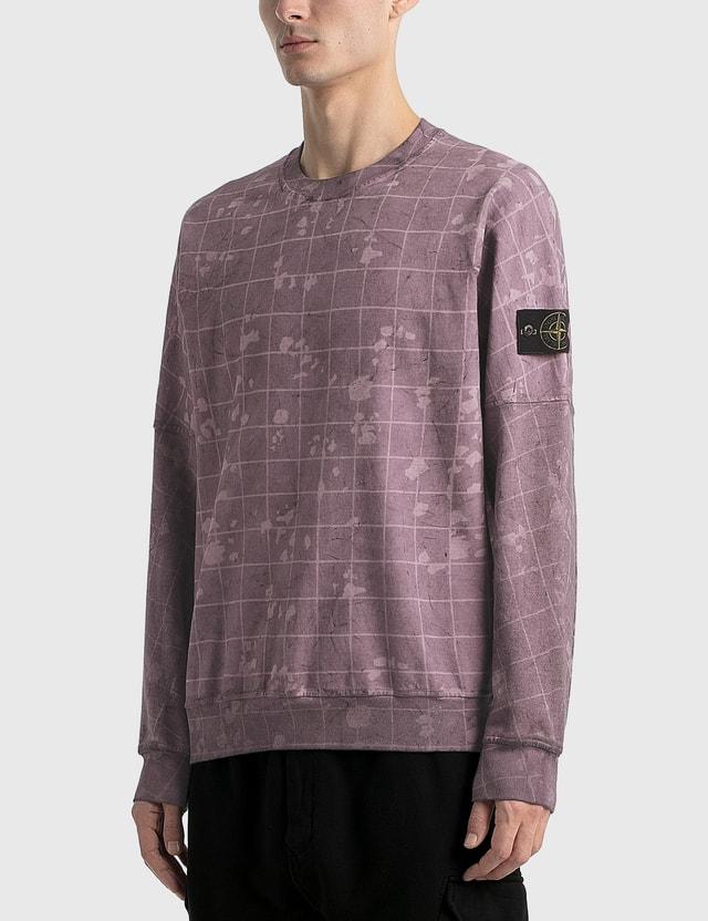 Stone Island Dyed Check Sweatshirt Camo Men