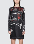 McQ Alexander McQueen Satin L/S Dress Picutre