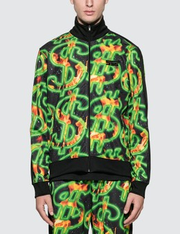 SSS World Corp Fire All Over Print Dollar Fire Track Top